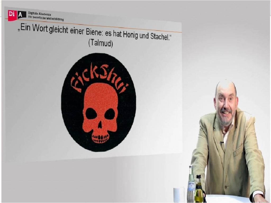 virtuelle Vorlesung an der QMS Berlin (Screenshot)