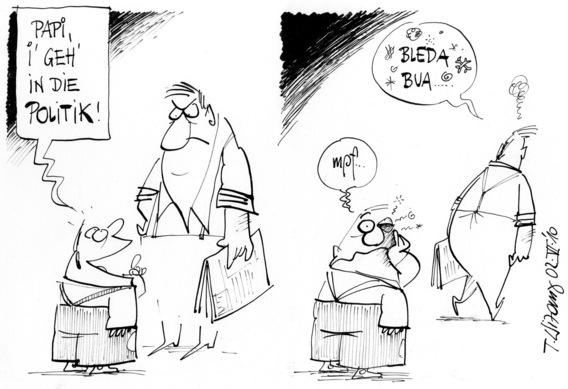 justitia ist blind karikatur