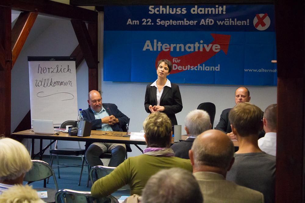 Wahlkampf in Görlitz mit Frauke Petry. Foto: Bodo Herold