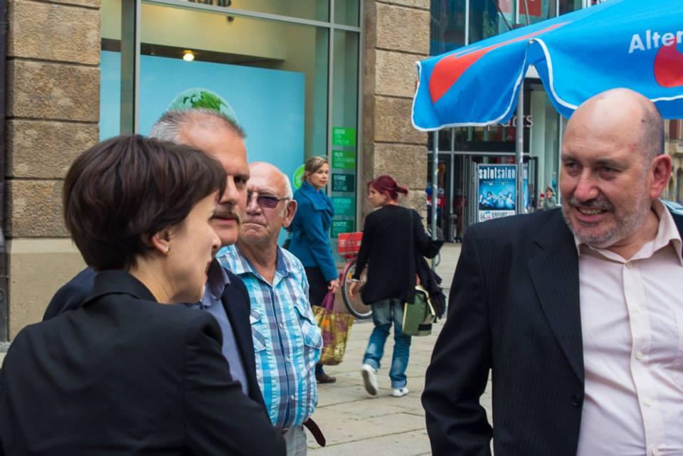 Wahlkampfunterstützung in Erfurt