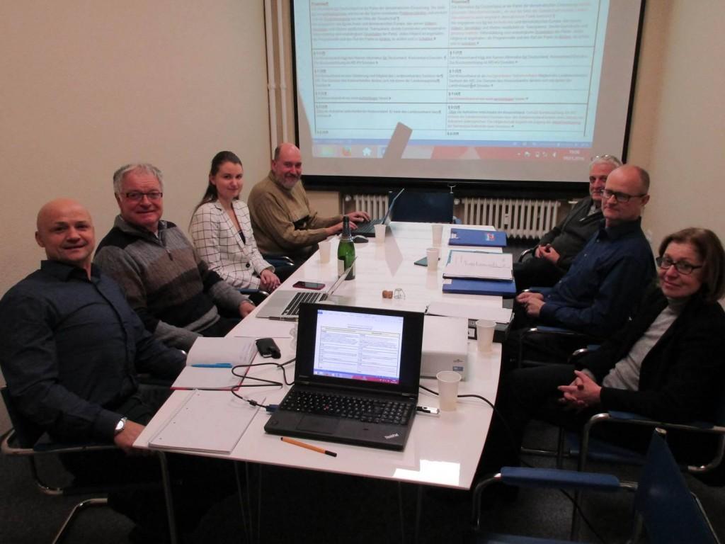 Vorstandssitzung KV Dresden mit dem 200. Mitglied