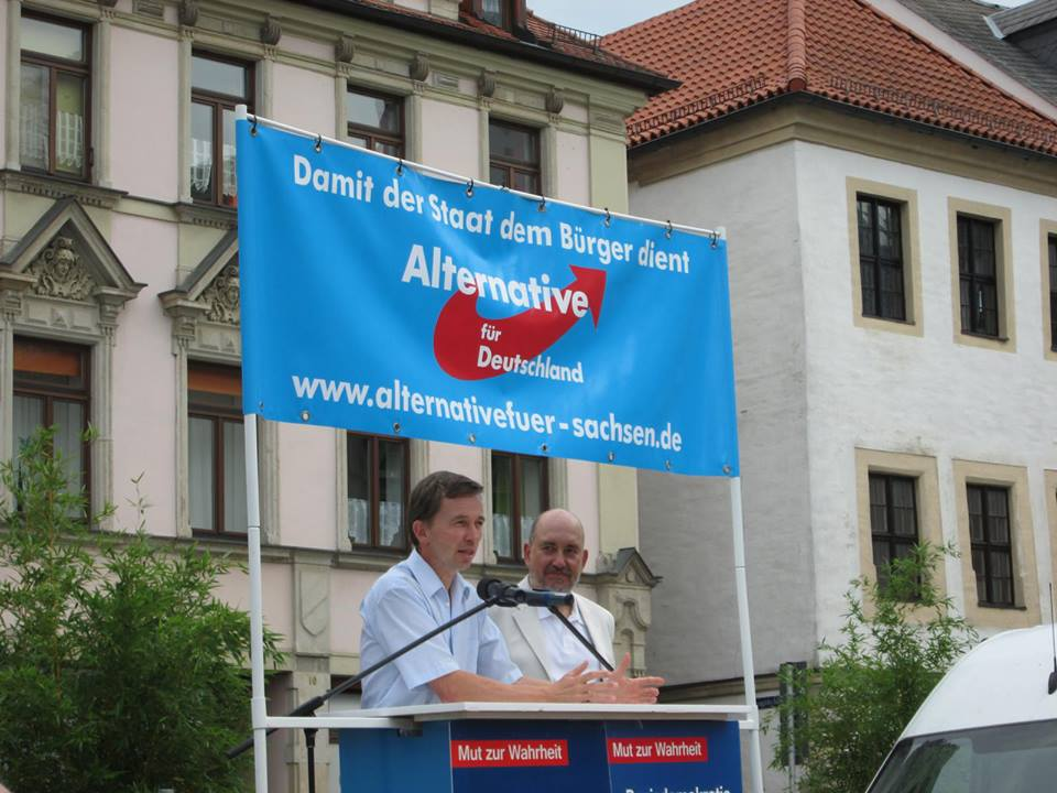Wahlkampf mit Bernd Lucke in Plauen. Foto: Jens Simmank