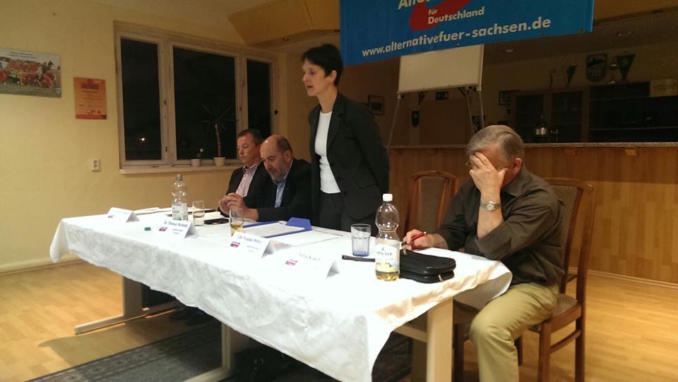 Wahlkampf in Meißen mit Frauke Petry. Foto: Olaf Hentschel
