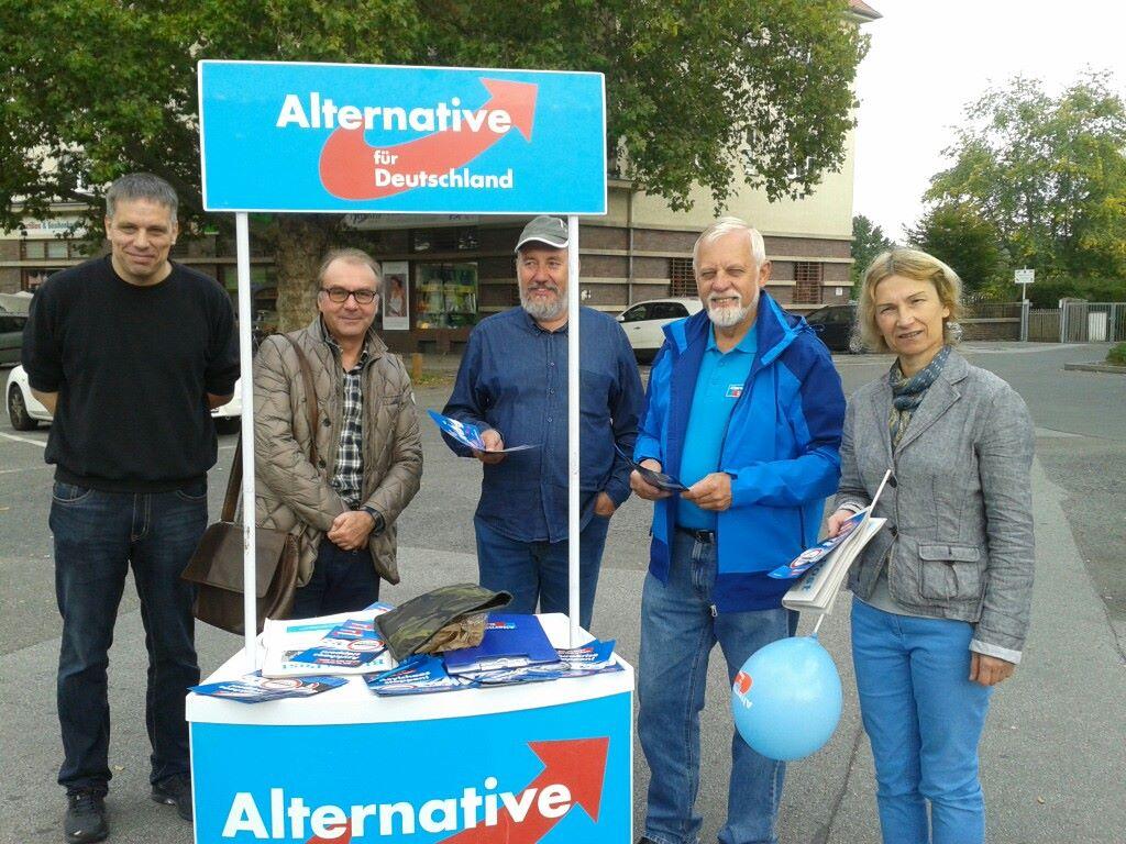 Wahlkampf zur Dresdner OB-Wahl mit meiner Ortsgruppe in Pieschen