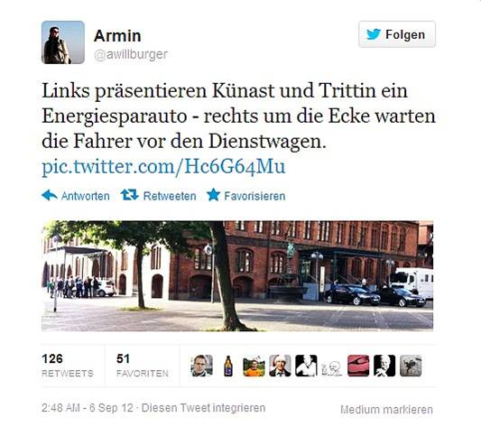 Screenshot Grüne-Kritik. Quelle: privat