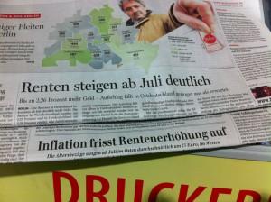 Screenshot zweier Berliner Zeitungen. Quelle: privat.