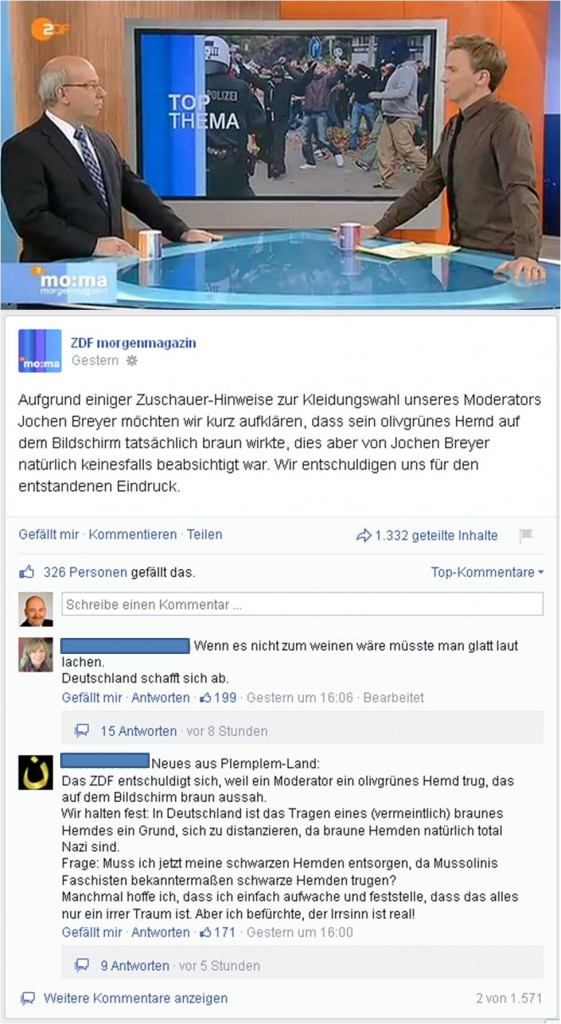 Screenshot Montage ZDF/Facebook. Quelle: privat