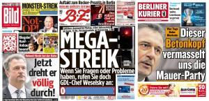 Collage Titelseitenauswahl 05.11.14. Quelle: meedia.de