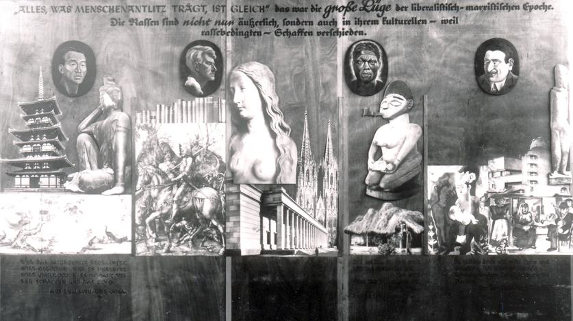 """Tafel """"Ewiges Volk"""", 1937. Quelle: https://www.daserste.de/information/wissen-kultur/ttt/sendung/mdr/rassismus-ausstellug-deutsches-hygienemuseum-dresden-110~_v-standard837_d88dbd.jpg"""