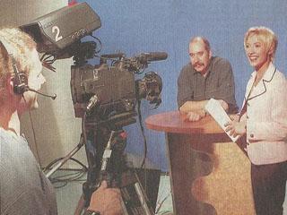 Als CvD bei Sachsen-Fernsehen 1997. Quelle: Sächsische Zeitung