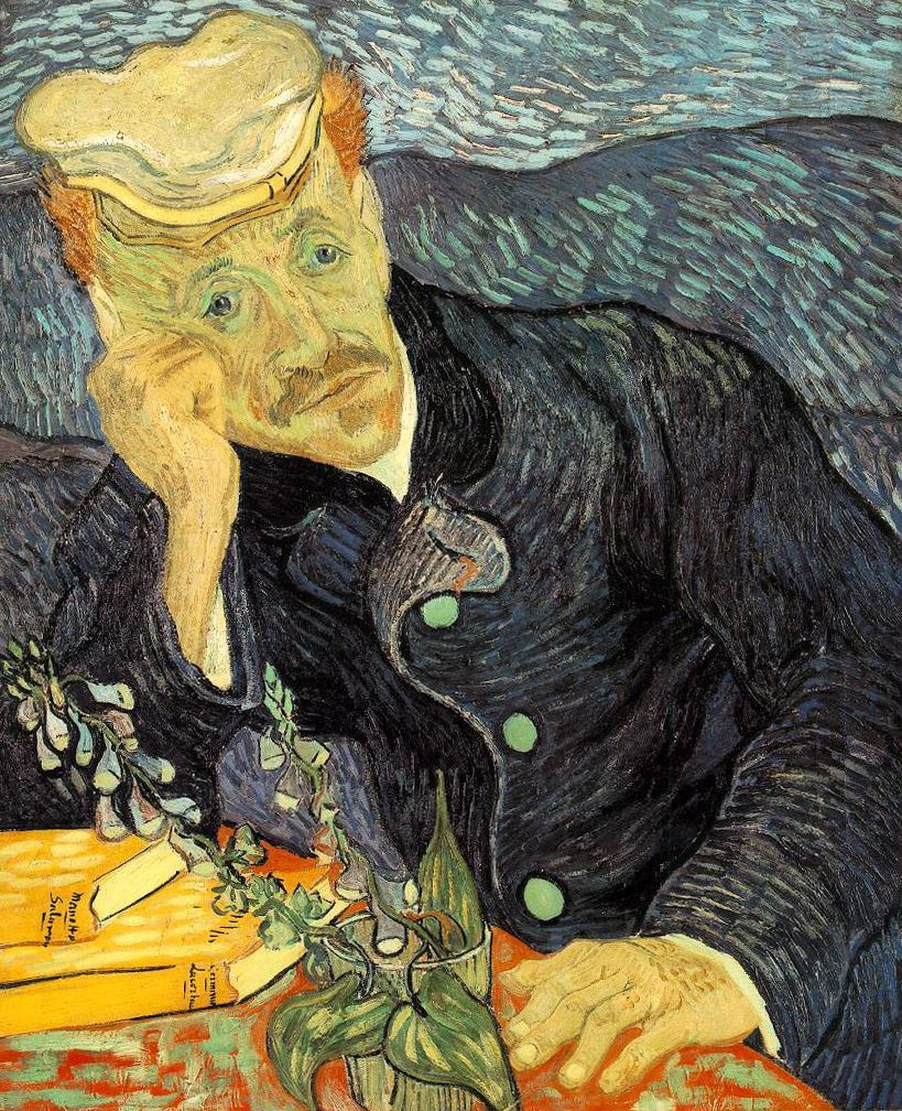 Gachet von v. Gogh. Quelle: https://upload.wikimedia.org/wikipedia/commons/1/1e/Portrait_of_Dr._Gachet.jpg