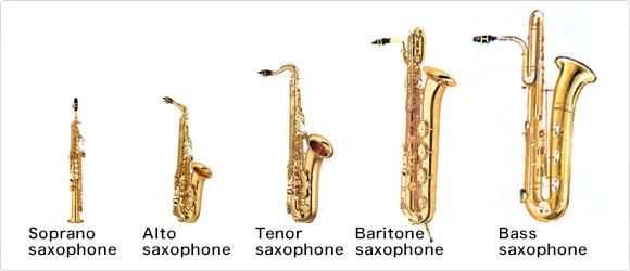 Saxophon-Bauarten. Quelle: https://hobbeasy.de/wp-content/uploads/2018/09/Saxophon-Bauarten.jpg