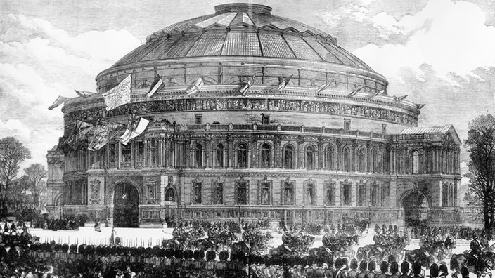 1871 Eröffnung der Londoner Royal Albert Hall. Quelle: https://www1.wdr.de/stichtag/stichtag-royal-albert-hall-100~_v-gseapremiumxl.jpg